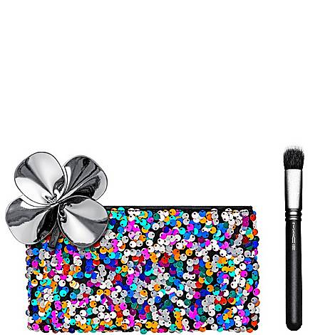 MAC Gift with purchase : Sequin Makeup Bag + Makeup Brush 130S, ${color}