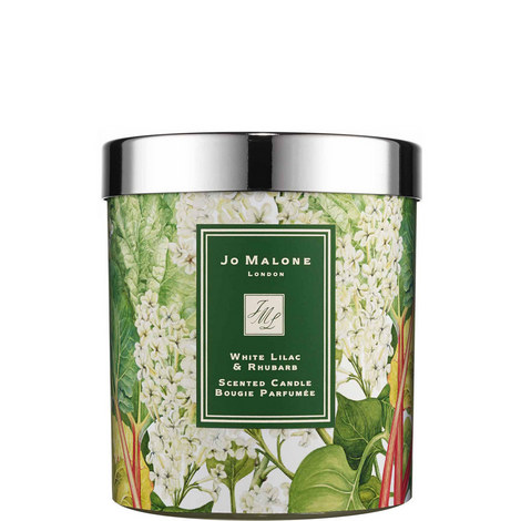 White Lilac & Rhubarb scented candle, ${color}