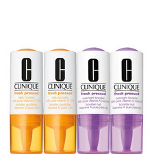 Fresh Pressed Clinical™ Daily + Overnight Boosters with Pure Vitamins C 10% + A (Retinol)  4 Pack