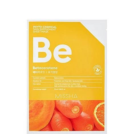 Betacarotene Phytochemical Skin Supplement Sheet Mask, ${color}