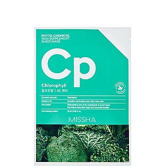 Chlorophyll Phytochemical Skin Supplement Sheet Mask