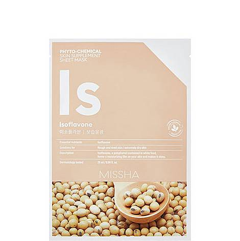 Isoflavone Phytochemical Skin Supplement Sheet Mask, ${color}