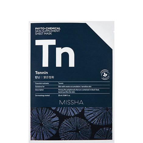 Tannin Phytochemical Skin Supplement Sheet Mask, ${color}