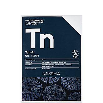 Tannin Phytochemical Skin Supplement Sheet Mask