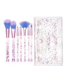 Aquarium Liquid Glitter Makeup Brush Set & Pouch