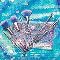 Aquarium Liquid Glitter Makeup Brush Set & Pouch, ${color}