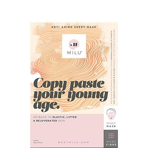 Copy Paste Your Young Age. Anti Aging Sheet Mask, ${color}