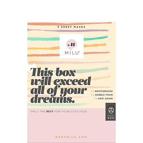 This Box Will Exceed All of Your Dreams. 3 Sheet Mask Gift Box, ${color}