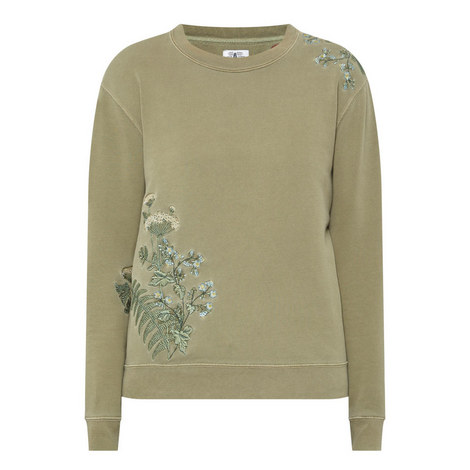 Embroidered Flower Sweatshirt, ${color}