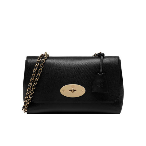 Lily Glossy Small Goat Bag, ${color}