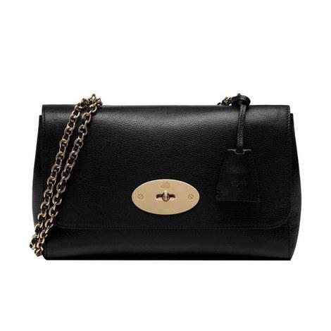 Lily Goat Medium Leather Bag, ${color}