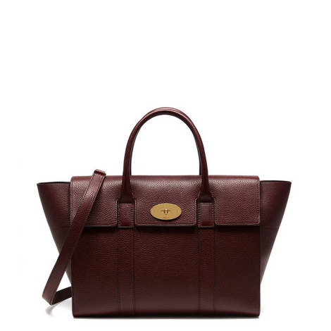 Bayswater Grained Leather Bag Medium, ${color}