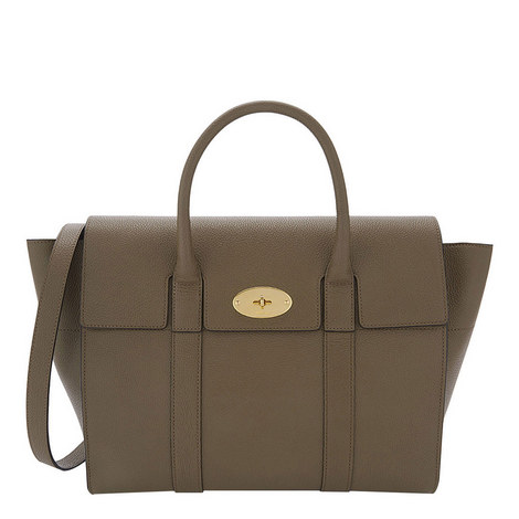 Bayswater Grained Leather Bag, ${color}