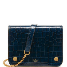 Clifton Chain Croc-Embossed Bag