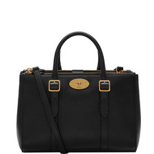 Bayswater Classic Grain Double Zip Tote Small
