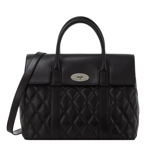 Bayswater Quilted Calfskin Bag Large, ${color}