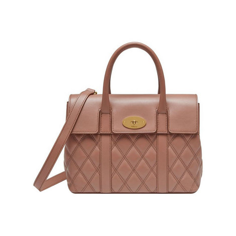 Bayswater Quilted Calfskin Bag Small, ${color}