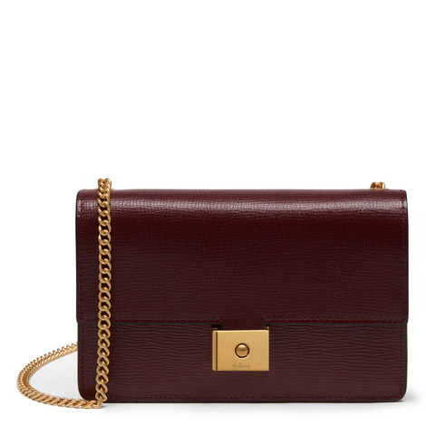 Cheyne Printed Goat Leather Clutch, ${color}