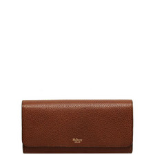 Continental Grained Leather Wallet