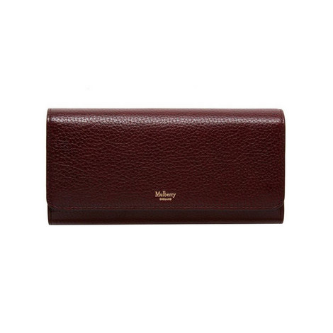 Continental Grained Leather Wallet, ${color}