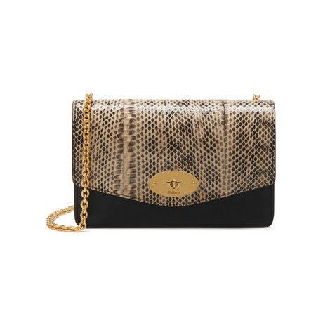 Darley Snakeskin and Smooth Calf Bag Small, ${color}