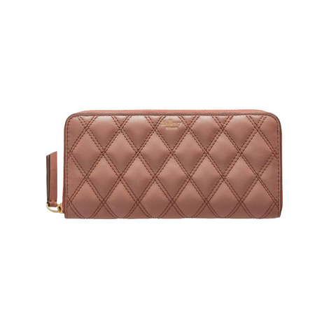 8 CC Quilted Zip Around Wallet, ${color}