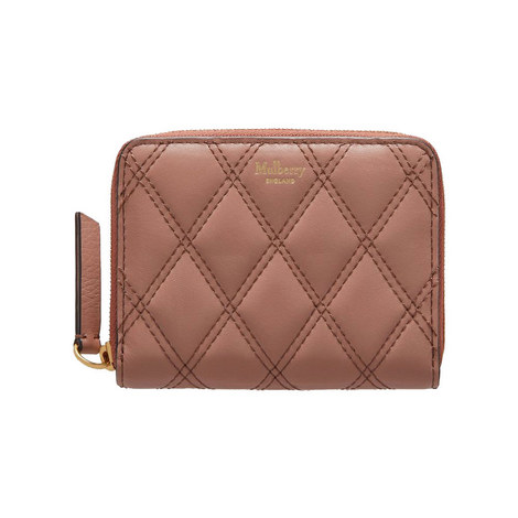 8 CC Quilted Zip-Around Purse, ${color}