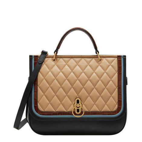 Amberley Calfskin Satchel Bag, ${color}