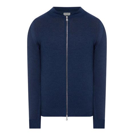 Zip Through Sweater, ${color}