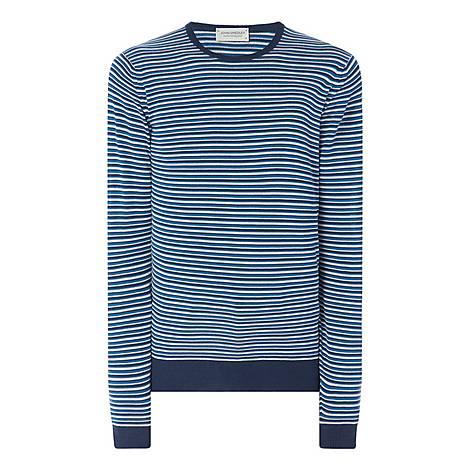 Asto Stripe Crew Neck Sweater, ${color}