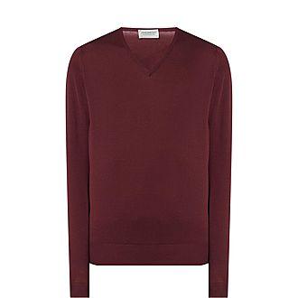 Blenheim Merino Wool V-Neck Sweater