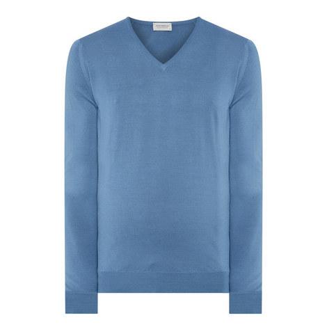 Blenheim Merino Wool V-Neck Sweater, ${color}