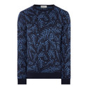 Jacquard Crew Neck Sweater , ${color}