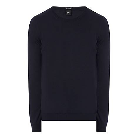 Leno Slim Crew Neck Sweatshirt, ${color}