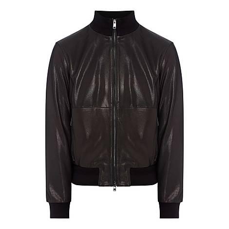 Nalan Leather Jacket, ${color}
