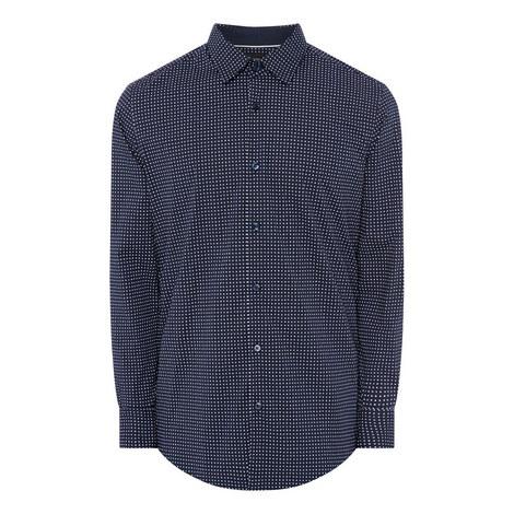 Rhombus Textured Shirt, ${color}