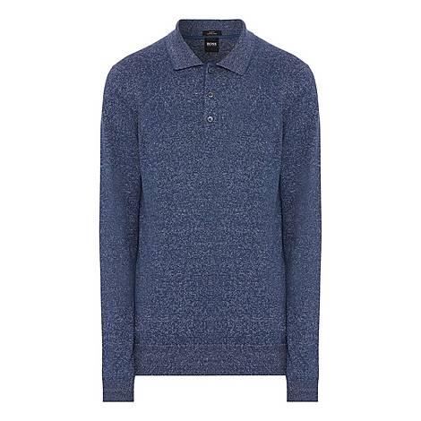 Feretti Long Sleeve Polo Shirt, ${color}