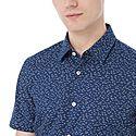 Ronn Short Sleeve Bird Print Shirt, ${color}