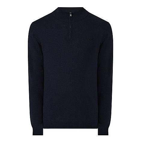 Barlo Half Zip Wool Sweater , ${color}