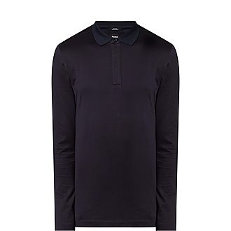 Pleins Long-Sleeved Polo Shirt