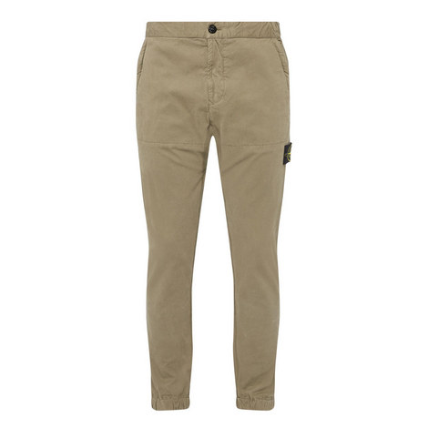 Casual Logo Patch Trousers, ${color}