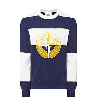 Large Logo Crew Neck Sweater