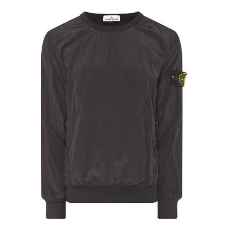 Ribbed Crew Neck Sweatshirt, ${color}