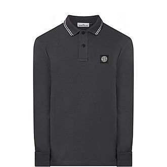 Long Sleeves Tipped Polo Shirt