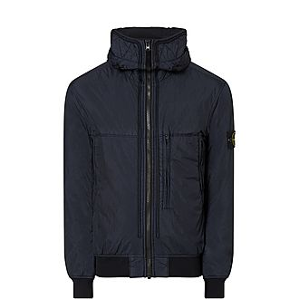 Crinkle Bomber Jacket