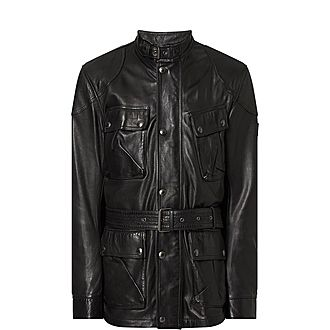 Trialmaster Panther Belted Leather Jacket