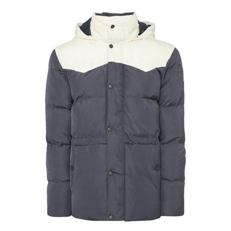 Colour-Block Western Puffa Jacket, ${color}