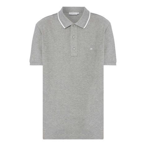 Trim Piqué Polo Shirt, ${color}