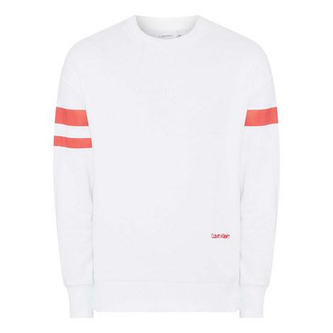 Striped Sleeve Sweatshirt, ${color}