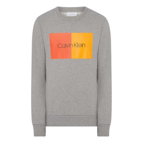 Colour Block Logo Sweatshirt, ${color}